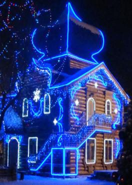 Дед мороз в загородном доме