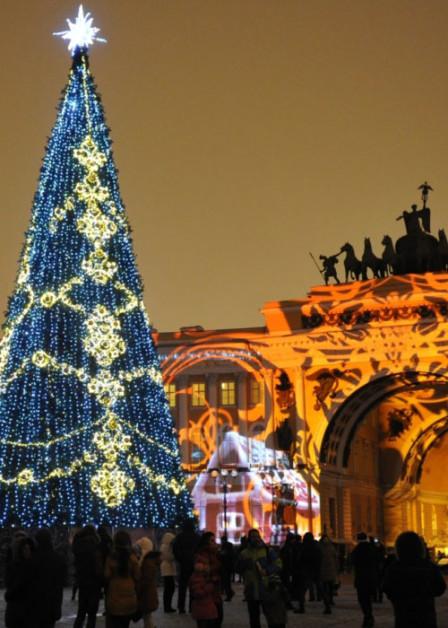 новогодняя ёлка на дворцовой